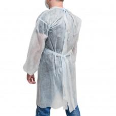 Халат процедурный нестерильный с завязками