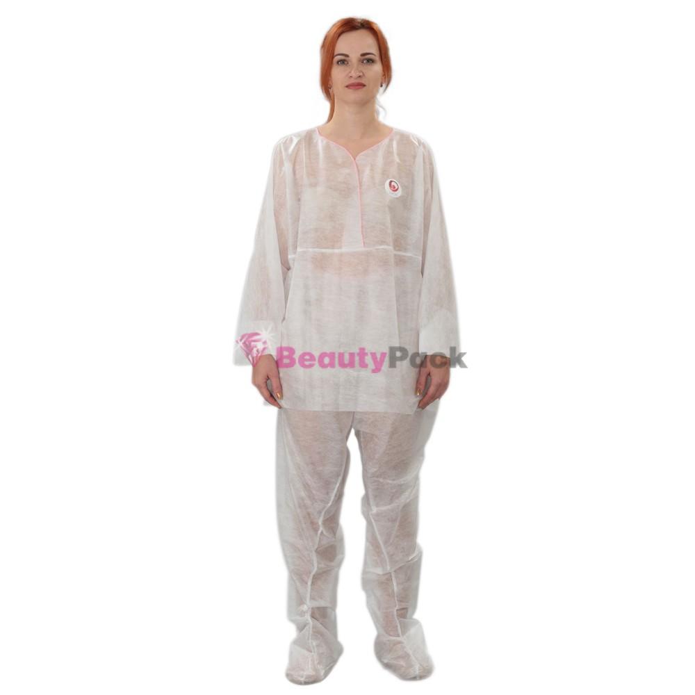 Одноразовый костюм для прессотерапии (туника+штаны)