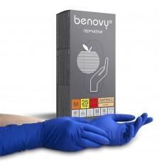 Перчатки латексные Benovy «Хай Риск» синие 25 пар