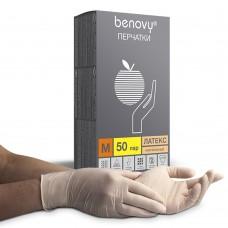 Перчатки латексные «Benovy» натуральные
