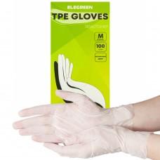 Перчатки из ТПЭ «Elegreen» прозрачные 50 пар