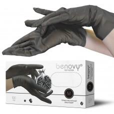 Перчатки из ТПЭ «Benovy» черные 100 пар