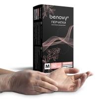 Перчатки виниловые «Benovy» прозрачные