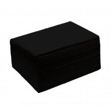 Полотенца спанлейс 40 гр/м² черные сложенные