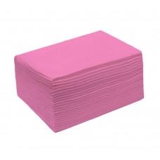 Полотенца спанлейс 40 гр/м² розовые сложенные